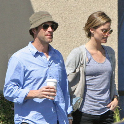Aaron Eckhart And His Girlfriend Out In La Popsugar