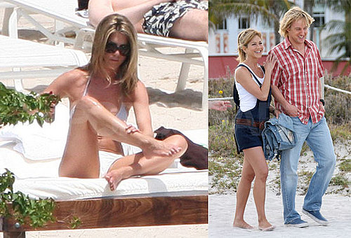 Jennifer Aniston's Lathered Up Weekend of Bikinis and Giving