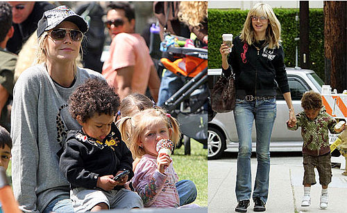 Heidi Klum Out with Her Family in LA