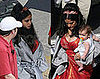 Salma Hayek With Daughter Valentina on the Set of Cirque du Freak