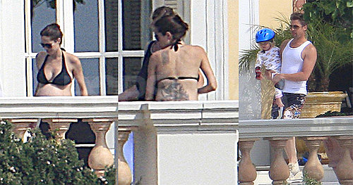 Photos of Angelina Jolie Pregnant in Bikini in France With Shiloh and Brad PItt