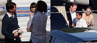 Tom Cruise And Katie Holmes Take Suri Cruise To The Set Of Seven Pounds