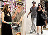 Angelina Jolie and Brad Pitt at Toys 'R Us