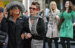 Photos of Kate Hudson and Anne Hathaway on the Set of Bride Wars
