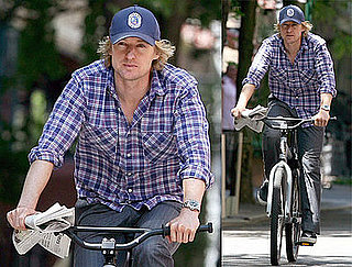 Owen Wilson Takes a Solo Bike Ride Through NYC