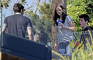 Photos of Jennifer Aniston and John Mayer with Courteney Cox in Malibu