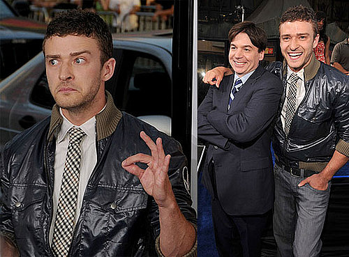 Photos of Justin Timberlake and Mike Myers at the LA Premiere of The Love Guru