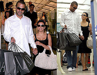 Photos of Eva Longoria and Tony Parker Shopping at Ferragamo in Manhattan