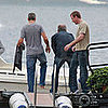 Guy Ritchie and George Clooney in Lake Como