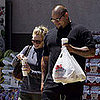 Hilary Duff and Bodyguard go to the Supermarket