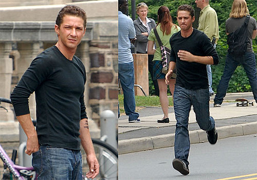 Photos of Shia LaBeouf and Megan Fox on the Set of Transformers 2 in Princeton, New Jersey
