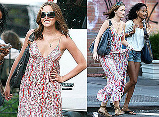 Photos of Leighton Meester and Nicole Fiscella in Greenwich Village
