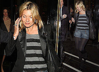 Photos of Kate Moss Leaving the Dorchester Hotel in London