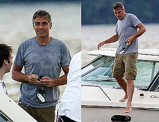 Photos of George Clooney on a Boat in Lake Como 2008-07-09 08:58:08