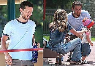 Photos of Tobey Maguire with his Wife and Daughter at an LA Playground