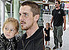 Photos of Christian Bale and Emmeline Bale Heading to Japan From Heathrow