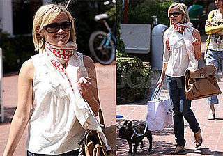 Photos of Reese Witherspoon Back In LA With Her Dog Frank Sinatra