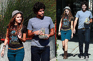 Photos of Adrian Grenier and Isabel Lucas in LA