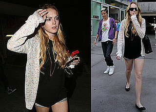 Photos of Lindsay Lohan and Samantha Ronson With A New Hairdo
