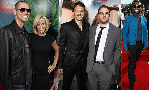 Photos of Celebrities Jim Carrey, Jenny McCarthy, Kanye West, James Franco, Seth Rogen at LA Premiere of Pineapple Express