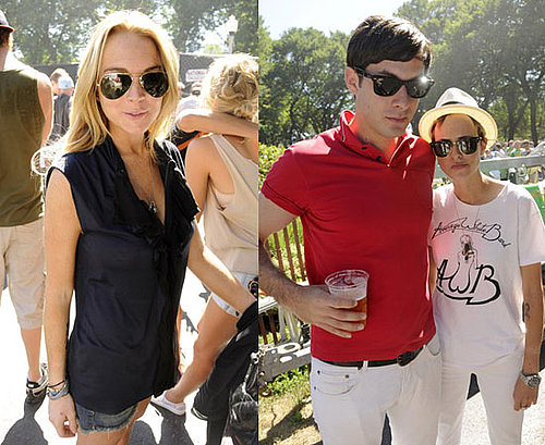 Photos of Lindsay Lohan, Samantha Ronson, Mark Ronson at Lollapalooza