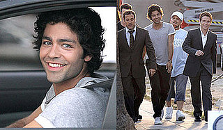 Photos of Adrian Grenier, Jerry Ferrara, Kevin Connolly, Kevin Dillon, Jeremy Piven Filming Entourage