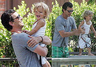Photos of Gavin Rossdale and Kingston Rossdale at Beverly Drive Park