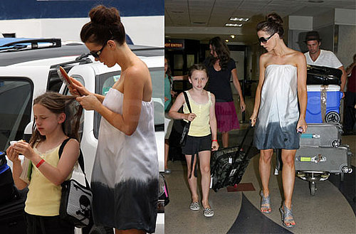 Photos of Kate Beckinsale and Family Arriving Back in LA