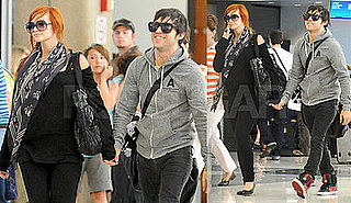 Photos of Ashlee Simpson and Pete Wentz at LAX