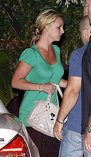 Photos of Britney Spears Wearing a Green Shirt in LA