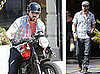 Photos of Ryan Reynolds Riding His Motorcycle in LA