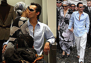 Photos of Jennifer Lopez and Marc Anthony Kissing in Portofino