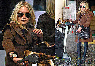 Photos of Mary-Kate Olsen at Milan Airport; She Recently Announced New Men's Collection and Shoe Collection With Ashley Olsen