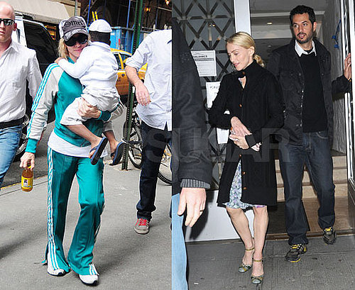 Photos of Madonna and David Banda Arriving at NYC's Kabbalah Center