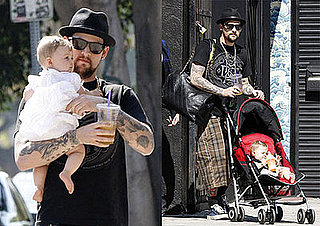 Photos of Joel Madden and Harlow Madden Getting Coffee in LA