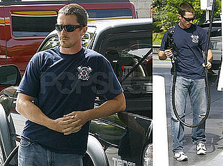 Photos of Christian Bale at the Gas Station