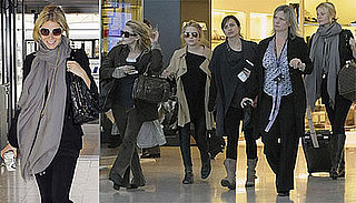 Photos of Mary-Kate Olsen, Ashley Olsen, Gwyneth Paltrow at Heathrow Airport