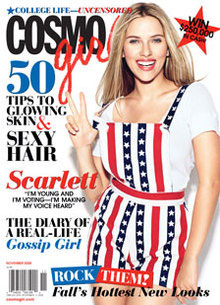 Photos of Scarlett Johansson on the Cover of Cosmo! Girl