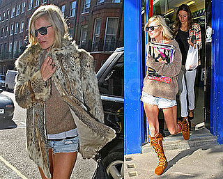 Photos of Kate Moss Buying Magazines in London