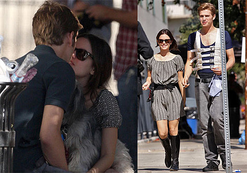 Photos of Rachel Bilson and Hayden Christensen Kissing With Thurman Murman on Lacoste Commercial Set