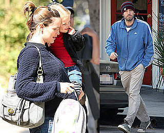 Photos of Pregnant Jennifer Garner Out in LA with Violet Affleck and Ben Affleck