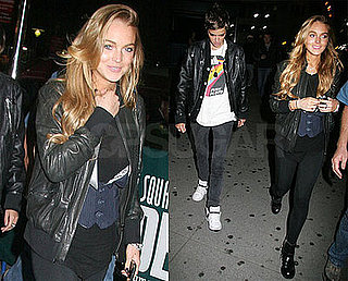 Photos of Lindsay Lohan and Samantha Ronson at Madison Square Garden in New York