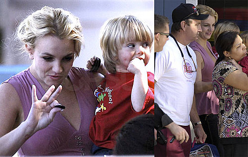 Britney Picks Up Her Boys and Waits For a Verdict