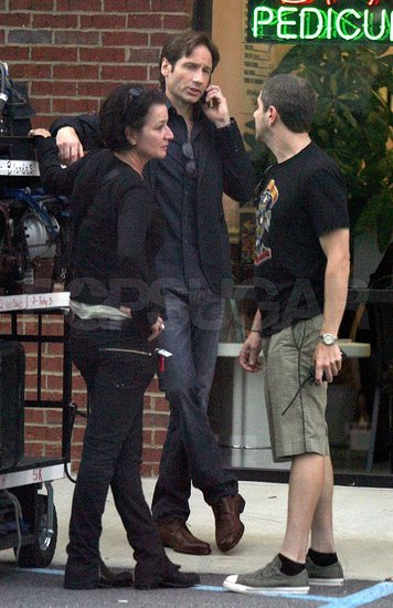 David and Demi Filming The Joneses