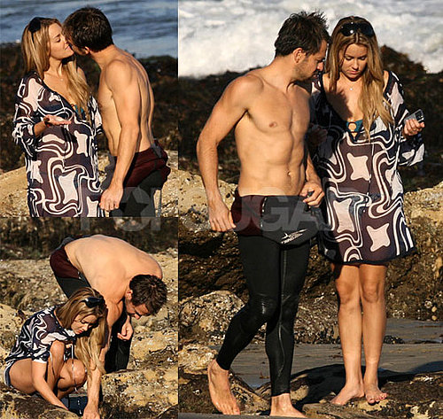 Bikini Photos of Lauren Conrad and Kyle Howard Kissing at the Beach