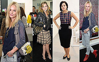 Kate Bosworth, Emma Watson, and Lily Allen at London's Frieze Art Fair