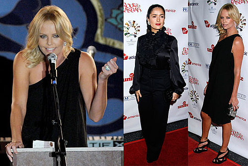 Photos of Charlize Theron and Salma Hayek at Richard Branson's Rock the Kasbah Event