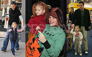 Photos of Ben Affleck and Jen Garner and Violet in NYC