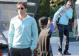 Photos of David Duchovny Filming The Joneses in Atlanta