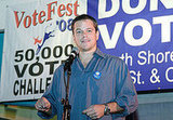 Matt Damon at Obama Rally